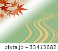 紅葉 和柄 背景のイラスト 33413682