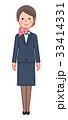 スーツ&スカーフ 女性 正面 33414331