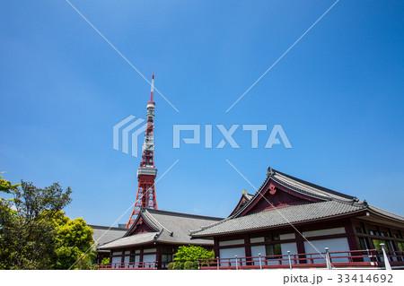 東京タワーと寺院 33414692