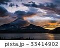 富士山 夕焼け 山中湖の写真 33414902