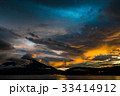 富士山 夕焼け 山中湖の写真 33414912