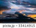 富士山 夕焼け 山中湖の写真 33414915