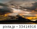 富士山 夕焼け 山中湖の写真 33414916