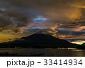 富士山 夕焼け 山中湖の写真 33414934