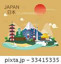 ベクトル 日本 ジャパニーズのイラスト 33415335