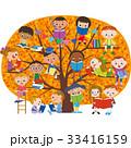 子供達 読書 本のイラスト 33416159
