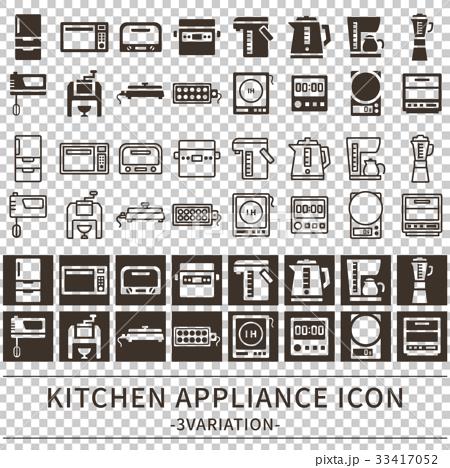 キッチン家電 アイコン セット 33417052