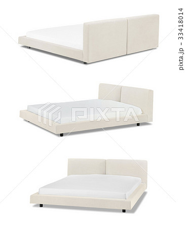 Modern beige Bed furnitureの写真素材 [33418014] - PIXTA