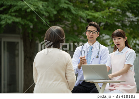 診察 医師 看護師 患者 病院 医療 イメージ 33418183