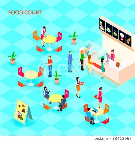 Fast Food Isometric Icon Set 33418967