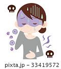 食中毒 女性 吐きそうのイラスト 33419572