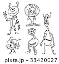 Cartoon Vector Set of Friendly Aliens Astronauts 33420027