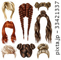 Realistic Female Hairstyles Set 33421337