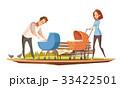 外 夫 親子のイラスト 33422501