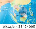 地図と地球 グローバルイメージ 33424005