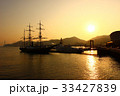 長崎港 夕日 海の写真 33427839