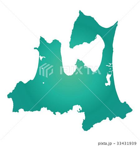 青森県地図 33431939