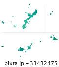 沖縄県地図 33432475