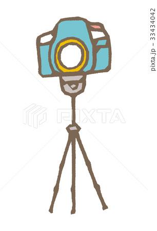 スタンド付カメラ【線画・シリーズ】 33434042