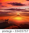 犬 戌年 富士山のイラスト 33435757