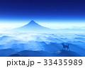 犬 戌年 富士山のイラスト 33435989
