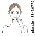 女性 エイジング しわのイラスト 33439779