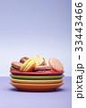 お菓子 マカロン 食べ物の写真 33443466