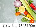 Ingredients for vegetable salad. 33456900