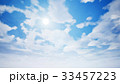 Cloudscape with summer sun. 3D rendering 33457223