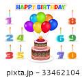 お誕生日 バースデー 誕生日のイラスト 33462104