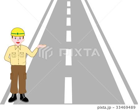 道路工事作業員の説明 33469489