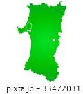 秋田県地図 33472031