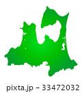 青森県地図 33472032