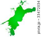 愛媛県地図 33472034