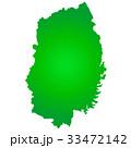 岩手県地図 岩手県 岩手のイラスト 33472142
