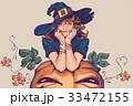 女性 魔女 コスチュームのイラスト 33472155