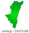 宮崎県地図 33472188