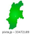 長野県地図 長野県 長野のイラスト 33472189