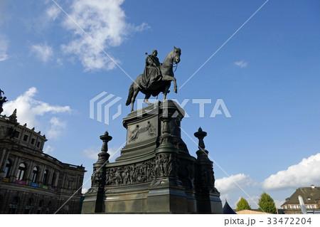 ドレスデン・ザクセン王ヨハンの騎馬像 33472204