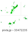 沖縄県地図 33472235