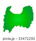 富山県地図 33472292