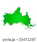 山口県地図 山口県 地図のイラスト 33472297
