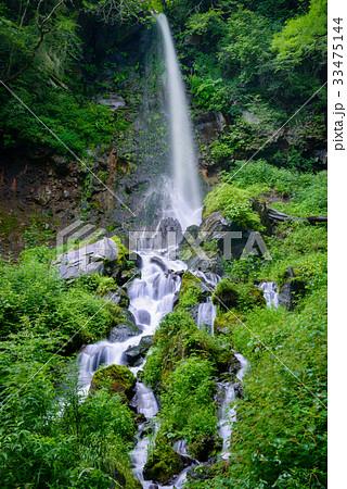 日本の滝、長野県、軽井沢町。 33475144