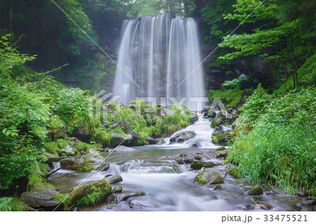 日本の滝、長野県、上田市、菅平高原。 33475521