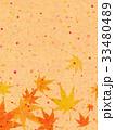 紅葉 模様 和紙風のイラスト 33480489