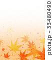紅葉 模様 和紙風のイラスト 33480490