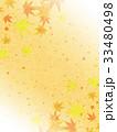 紅葉 模様 和紙風のイラスト 33480498