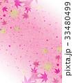 紅葉 模様 和紙風のイラスト 33480499