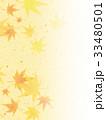 紅葉 模様 和紙風のイラスト 33480501