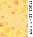 紅葉 模様 和紙風のイラスト 33480511